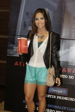 Pérola Faria em pré-estreia de filme no Rio (Foto: Philippe Lima/ Ag.News)