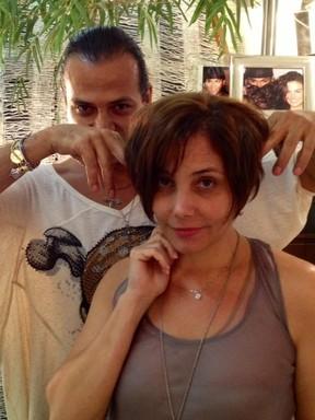Heloísa Périssé muda o visual com Flávio Priscott (Foto: Divulgação)