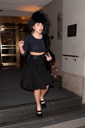 Lady Gaga em Nova York, nos Estados Unidos (Foto: D Dipasupil/ Getty Images/ Agência)