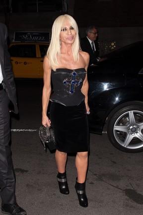 Donatella Versace em Nova York, nos Estados Unidos (Foto: D Dipasupil/ Getty Images/ Agência)