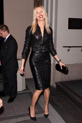 Modelo Karolina Kurkova em evento em Nova York, nos Estados Unidos (Foto: D Dipasupil/ Getty Images/ Agência)