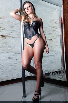 Marianne Ranieri, candidata do Piauí, ao Miss Bumbum Brasil 2012 (Foto: Cadu Nickel/Divulgação)