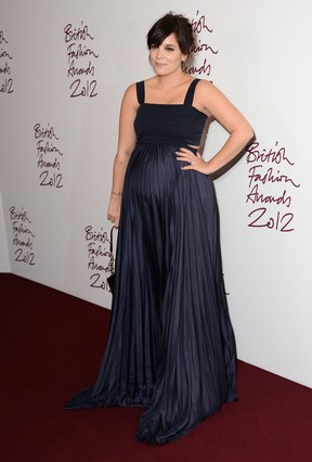 Lily Allen em prêmio de moda em Londres, na Inglaterra (Foto: Ian Gavan/ Getty Images/ Agência)