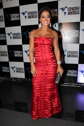 Mayra Cardi em show de Roberto Carlos (Foto: Orlando Oliveira / AgNews)
