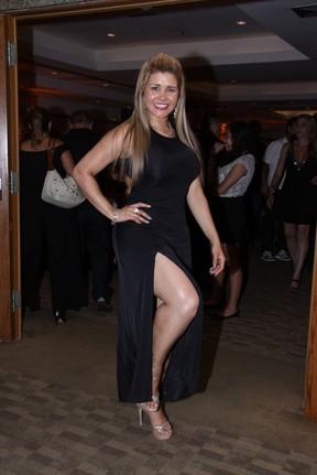 Grace Kelly, a Mulher Maçã, em evento no Rio (Foto: Alex Palarea/ Ag. News)