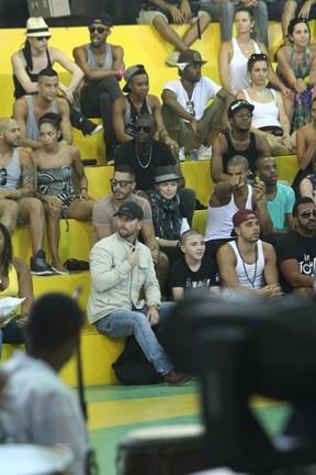 Madonna no Afro Reggae (Foto: Gabriel Reis / AgNews)