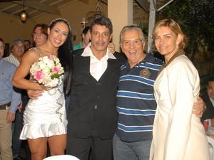 Alexandre Frota, Fabiana Rodrigues, Carlos Alberto de Nóbrega e a esposa (Foto: Ricardo Vait / Divulgação)
