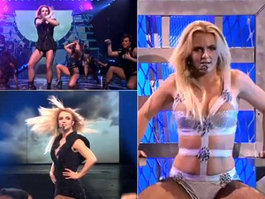 Britney na turnê Femme Fatale (arquivo) (Foto: Reprodução twitter)
