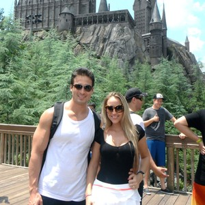 Andressa e Toshi durante viagem a Disney (Foto: Arquivo Pessoal)