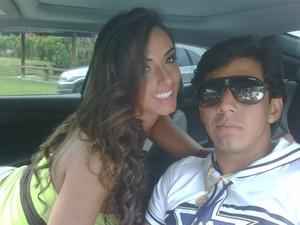 Nicole Balhs e o namorado Victor Ramos (Foto: Divulgação / Divulgação)