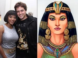 Aparecida Petrowky e Cleópatra (Foto: Alex Palarea/AgNews e Reprodução)