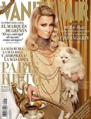 Paris Hilton na capa da Vanity Fair (Foto: Reprodução)