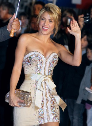 Shakira no NRJ Music Awards, em Cannes, na Fran&#231;a (Foto: AFP/ Ag&#234;ncia)
