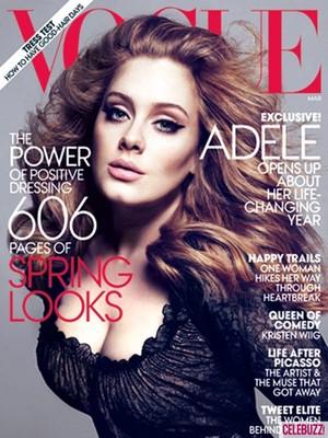 Adele é capa da VOGUE (Foto: Reprodução)