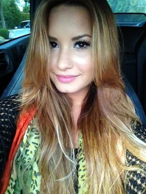Demi Lovato posta foto de novo visual no Twitter - galeria (Foto: Twitter / Reprodução)