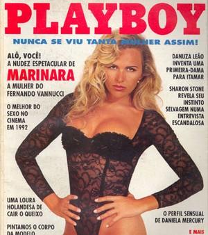 Marinara Costa na capa da Playboy de dezembro de 1992 (Foto: Playboy / Divulgação)