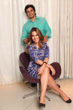 Wanessa e o cabeleireiro Julio Crepaldi (Foto: Iwi Onodera / EGO)