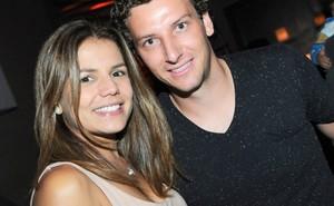 Nívea Stelmann e Elano (Foto: Francisco Cepeda/Agnews)
