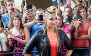 Demi Lovato em audição do 'The X Factor' (Foto: Getty Images)