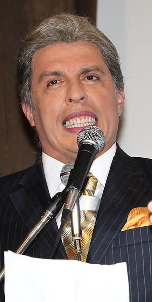 O humorista Ceará na coletiva do programa 'Pânico na TV' (Foto: Manuela Scarpa / Photo Rio News)