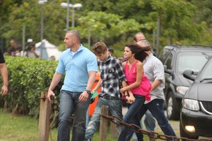 Justin Bieber e Selena Gomez (Foto: Photo Rio News/Marcos Ferreira e Ricardo Leal)