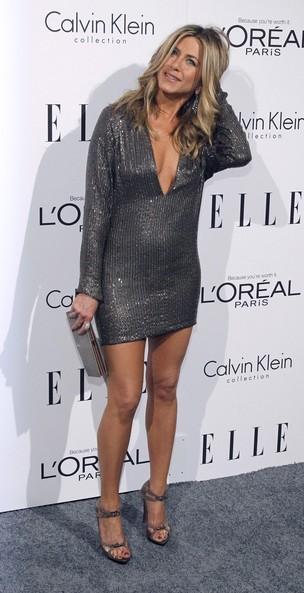 Jennifer Aniston no evento promovido pela Elle, em Los Angeles, Califórnia (Foto: Reuters)