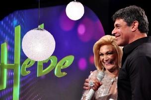 Alexandre Frota no programa de Hebe Camargo (Foto: Renata de Paula / Divulgação)
