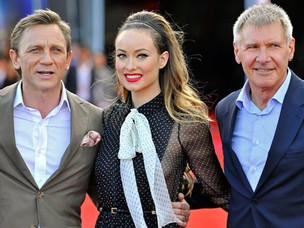 Daniel Craig, Olivia Wilde e Harrison Ford (Foto: Getty Images /.)