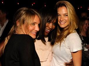 Cameron Diaz, Naomi Campbell e Bar Refaeli (Foto: Getty Images)