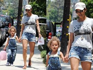 Halle Berry e a filha Nahla (Foto: Brainpix)