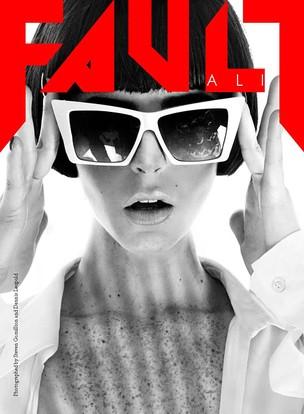 """Ali Lohan, irmã de Lindsay Lohan, na capa da revista """"Fault"""" (Foto: Reprodução / Fault)"""
