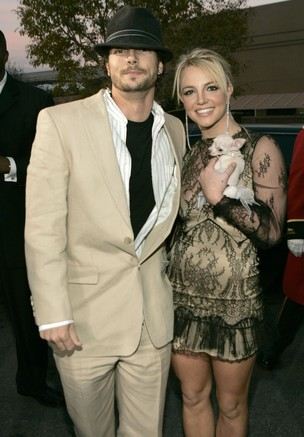Britney Spears e Kevin Federline (Foto: Agência/ Getty Images)