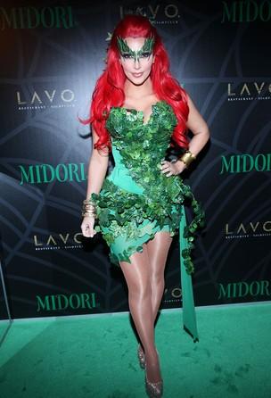 Kim Kardashian em festa de Halloween em Nova York (Foto: Getty Images)