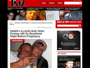 Mariah Yater, mãe do suposto filho de Bieber, com o ex-namorado, Robbie (Foto: Reprodução/TMZ)