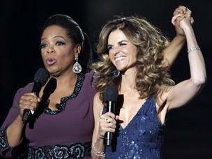 Oprah Winfrey e Maria Shriver (Foto: Agência Reuters)