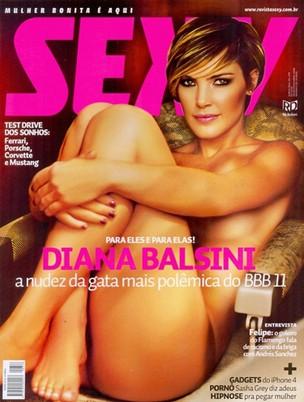 Diana, ex-BBB (Foto: Revista Sexy/Reprodução)