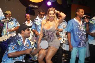 Tatiane Minerato na festa de aniversário de Mulher Melão em um casa de festas na Zona Oeste do Rio (Foto: Raphael Mesquita/ Photo Rio News)