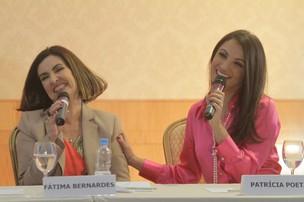 Fatima Bernardes e Patricia Poeta (Foto: André Muzell/AgNews)