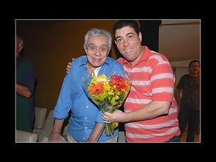 Chico Anysio e o filho, André Lucas (Foto: Juliana Rezende/EGO)