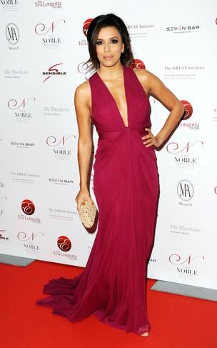 Eva Longoria em evento de gala em Londres, na Inglaterra (Foto: Getty Images/ Agência)