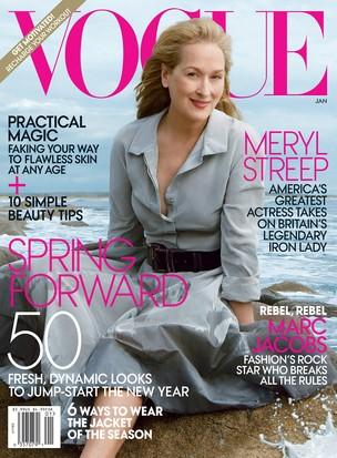 Meryl Streep na capa da Vogue América (Foto: Reprodução / Vogue)