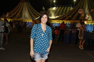 Rafaela Mandelli em apresentação do Cirque du Soleil (Foto: Isac Luz / EGO)