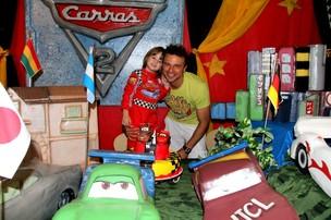 Cássio Reis e Noah (Foto: Daniel Delmiro/ Ag.News)
