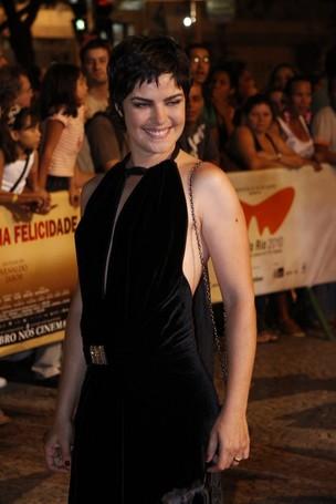 A atriz Ana Paula Arósio no Festival do Rio de 2010 (Foto: Isac Luz / EGO)