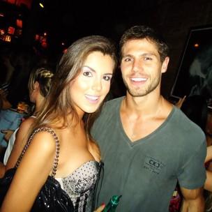 Jonas com a ex-namorada Mayra Azevedo (Foto: Arquivo Pessoal)