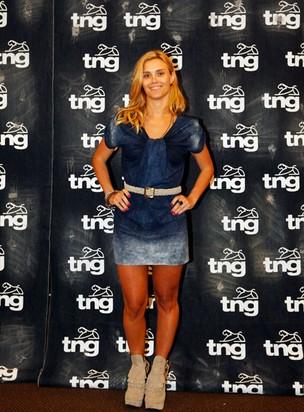 Carolina Dieckmann no Fashion Rio (Foto: Marcos Serra Lima / EGO)
