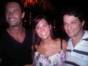 Rodrigo Santoro, Carol Sampaio e Marcelo Serrado (Foto: Reprodução / Facebook)