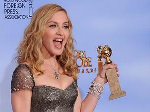 Madonna no Globo de Ouro (Foto: AFP/ Agência)
