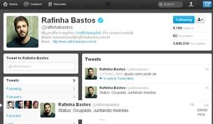 Rafinha Bastos no Twitter (Foto: Reprodução/Twitter)
