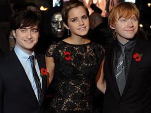 Daniel Radcliffe, Emma Watson e Rupert Grint (Foto: Agência/AFP)